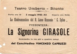 1942 TEATRO UMBERTO  BITONTO - Programs