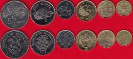 Seychelles Set Of 6 Coins: 1 Cent - 5 Rupees 2004-2012 UNC - Seychelles