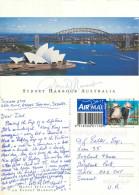 Opera House And Harbour Bridge, Sydney, NSW, Australia Postcard Posted 2005 Stamp - Sydney