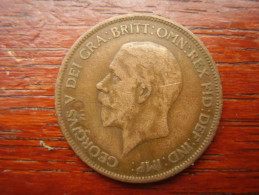 Great Britain 1930  GEORGE V  ONE PENNY  USED FAIR CONDITION.(HG34) - 1902-1971 : Post-Victorian Coins