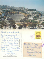 Roman Theatre, Amman, Jordan Postcard Posted 1992 Stamp