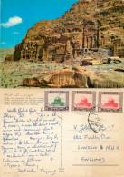 Petra, Jordan Postcard Posted 1967 Stamp