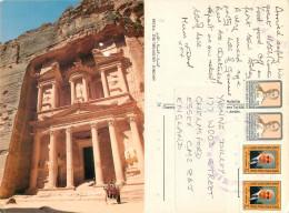 Petra, Jordan Postcard Posted 1991 Stamp