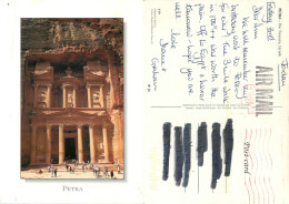 Petra, Jordan Postcard Posted 2013 Meter