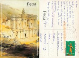 Petra, Jordan Postcard Posted 2006 Stamp