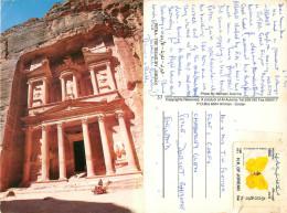 Petra, Jordan Postcard Posted 1993 Stamp