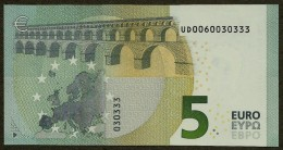 France - U - 5 Euro - U003 A4 - UD 0060030333 - Draghi - UNC - EURO