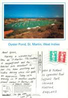 Oyster Pond, St Maarten, Netherlands Antilles Postcard Posted 1993 Stamp - Saint-Martin