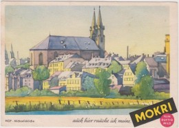 AK - Werbekarte MOKRI Zigaretten - Hof Michaeliskirche - 40iger - Werbepostkarten