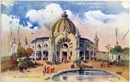 ESPOSIZIONE DI MILANO 1906 Cart Uff N° 8  Arte Decorativa Architetto Locati  Annullo Busto Arsizio - Exhibitions