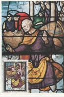 27 - CONCHES - Eglise Sainte Foy Saint Pierre (fragment De Vitrail) Premier Jour Philatélique - Conches-en-Ouche