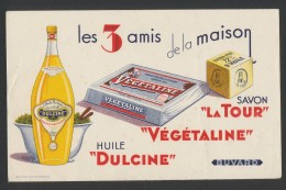 Buvard  -  DULCINE - La Tour - Vegetaline - Huile Dulcine - Blotters