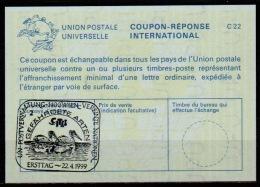 UNITED NATIONS VIENNA UNO WIEN CITES PELIKAN PELICAN 22.04.99 Int. Reply Coupon Reponse Antwortschein IRC IAS La25 - Pélicans