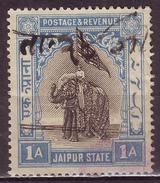 India-Jaipur State Elephant 1 Anna Revenue SG-42 #DF151 - Jaipur