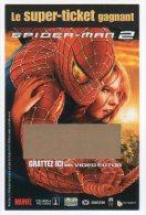 """VIDEO  FUTUR - Super Ticket  """" SPIDER - MAN 2 """" - Neuf Non Gratté - Sonstige"""