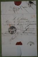 Enveloppe Avec Partie De Correspondance, Adresséeà Mme La Princesse De Rohan, Molsheim, 1835, Amiens - 1801-1848: Précurseurs XIX