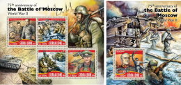 SIERRA LEONE 2016 ** Battle Of Moscow Kampf Um Moskau Bataille De Moscou M/S+S/S - OFFICIAL ISSUE - A1638 - Seconda Guerra Mondiale