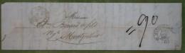 Plis De Bédarrieux Pour Montpellier 1832 - Marcophilie (Lettres)
