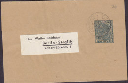 Canada Postal Stationery Ganzsache Entier 1c. GV. Wrapper Streifband Bande Journal OTTAWA 1933 BERLIN-STEGLITZ Germany - 1903-1954 Kings