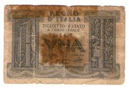Italia Regno 1 Lira 1939 - [ 1] …-1946 : Kingdom