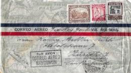 COLUMBIA - ZÜRICH → Flugpost / Vai Air Mail Mancomun 1937 - Colombie