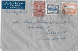 ECUADOR - ZÜRICH → Flugpostbrief / Par Avion 1945 Via New York Nach Zürich - Equateur