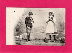 L'ANGELUS, Enfants Priant, (A. Bergeret) - Cartes Postales