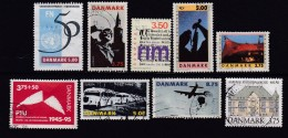 DENMARK, 1995, Used Stamp(s), Various, MI 1084=1107, #10216, 9 Values - Denmark