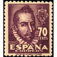 ES1036STV-LFT***1036S.España.Spain  Espagne. Escritor.MATEO ALEMAN.1948. (Ed 1036**) Sin Charnela - 1931-Oggi: 2. Rep. - ... Juan Carlos I