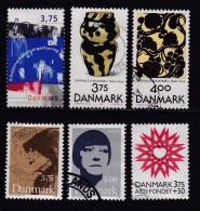 DENMARK, 1996, Used Stamp(s), Various, MI 1124=, #10223, 6 Values Only - Denmark