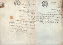 VP5677 - LAGNY - 2 Actes De 1824 & 25 - Concernant Mrs ENGUERAND De SAINT THIBAULT & GENTILLY - Manuscrits