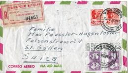 MEXICO - SUIZA → Einschreibebrief /Pieza Registrada Num.94861 Anno 1950 - Mexique