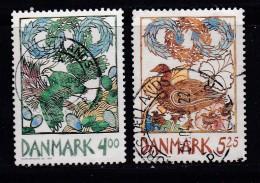 DENMARK, 1999, Used Stamp(s), Spring, MI 1207-1208, #10246, Complete - Denmark