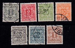 DENMARK, 1934, Used Stamp(s), Porto, MI P25=P31, #10250, Complete - Postage Due