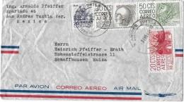 MEXICO - SUIZA → Luftpostbrief/Correo Aero Nach Schaffhausen Anno 1960 - Mexique