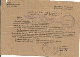 Nazi Germany-Ukraine 1943 Ausweis Saporoshje Bilingual Permit To Stay For Worker From Military Plant Aufenthatserlaunis - 1939-45