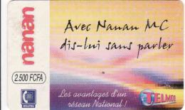 BURKINA FASO, RECHARGE Telmob Card 2500 FCFA, Onatel - Burkina Faso