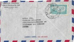 MEXICO - SUIZA → Luftpostbrief/Correo Aero Nach Dietikon/ZH Anno 1950 - Mexique