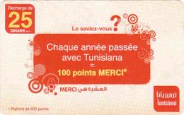 Tunisie Telecom Recharge Card 25 DT, - Tunisie
