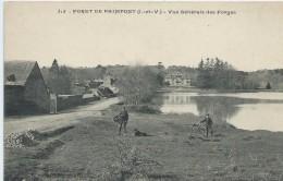 35, Ile Et Vilaine, PAIMPONT, Forêt De Paimpont, Vue Générale Des Forges,Personnages, Scan Recto-Verso - Paimpont