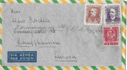 SAO PAULO - SUISSA → Flugpostbrief/Par Avion Nach Schaffhausen Ca.1950 - Poste Aérienne