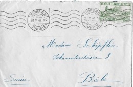 Tunisie - Suisse → Brief Von Tunesien Nach Basel Anno 1941 - Tunisie (1956-...)