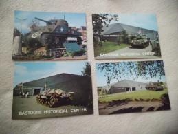 4 Cartes BASTOGNE...MEMORIAL AMERICAIN (3) Et PLACE MAC AULIFFE - Guerra 1939-45