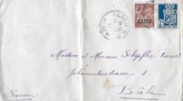 ALGERIE - SUISSE → Nach Basel Anno 1945 - Algérie (1962-...)