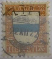 Suisse - YT 188 Obl - 1922 - Armoiries - Pour La Jeunesse - Pro Juventute - Oblitérés