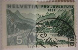 Suisse - YT 250 Obl - 1931 - Pour La Jeunesse - Pro Juventute - Lac De Saint-Moritz - Oblitérés