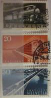 Suisse - YT 442 443 444 Obl - 1947 - Chemins De Fer - Trains - Suisse