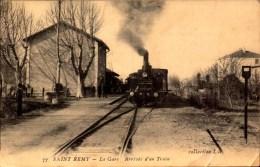 Bouches Du Rhone, Saint Remy, La Gare, Arrivee D Un Train     (etat Voir Photos) - Martigues