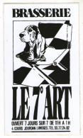 AUTOCOLLANT  87     LIMOGES   BRASSERIE LE 7° ART - Stickers