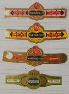 M69 Bague Bagues Cigare Cigares  Martinez  4 Pièces - Bagues De Cigares